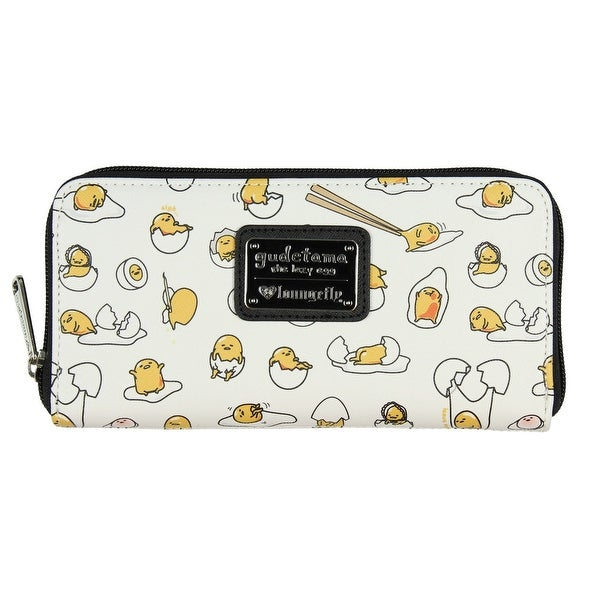 bf01555ca9a3 Loungefly Gudetama The Lazy Egg All Over Print Zip Around Wallet - One Size  Fits most