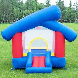 Costway Inflatable Bounce House Castle Jumper Slide Playhouse Bouncer without Blower