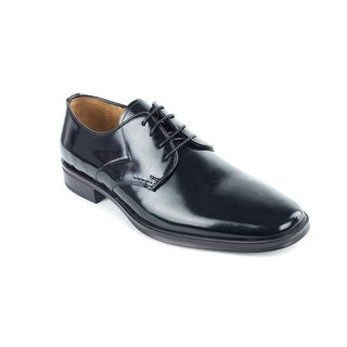 Bruno Magli Santiago Mens Black Polished Leather Derbys Shoes