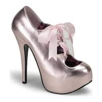 Bordello Women's Teeze 09 Pink Metallic PU