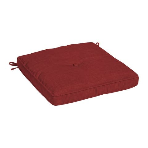 Arden Selections Plush BlowFill 20 x 20 in. Solid Leala Outdoor Dining Seat Cushion
