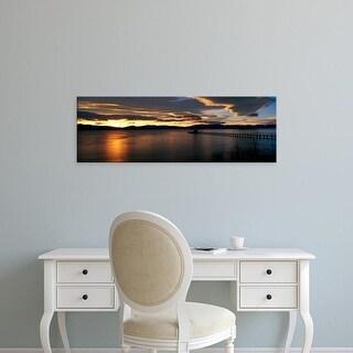 Easy Art Prints Panoramic Images's 'Sunrise Lake Tahoe CA' Premium Canvas Art