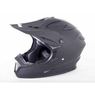Cyclone ATV MX Motocross Dirt Bike Quad Off-Road Helmet Matte Black
