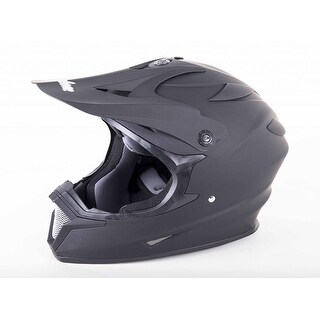 Cyclone ATV MX Motocross Dirt Bike Off-Road Helmet DOT/ECE Approved- Matte Black