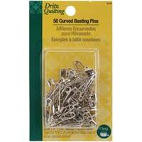 Size 1 50/Pkg - Dritz Quilting Steel Curved Basting Pins