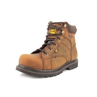 "Caterpillar Whiston 6"" Men Round Toe Leather Brown Work Boot"