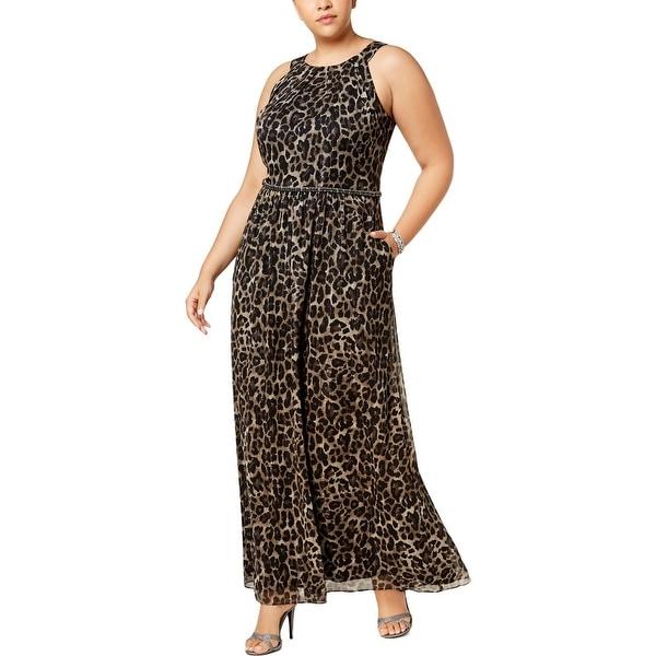 5221bdaf06 Shop SLNY Womens Evening Dress Metallic Animal Print - Free Shipping ...