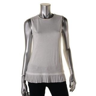 Lauren Ralph Lauren Womens Sheer Trim Sleeveless Blouse - M