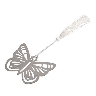Household Metal Tassel Decor Butterfly Shaped Page Fashion Holder Bookmark