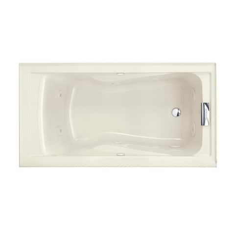 "American Standard 2425VC-RHO Evolution 60"" Acrylic Whirlpool Bathtub with Right Hand Drain and EverClean Technology - Lifetime"