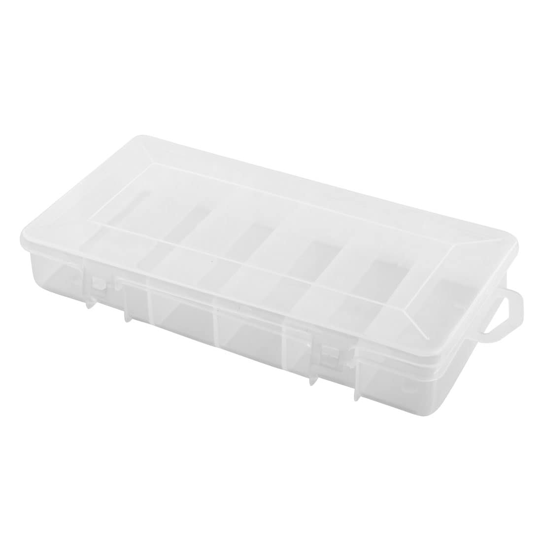 Angling Tackle Plastic 6 Compartments Fishing Lure Bait Storage Box Holder Clear