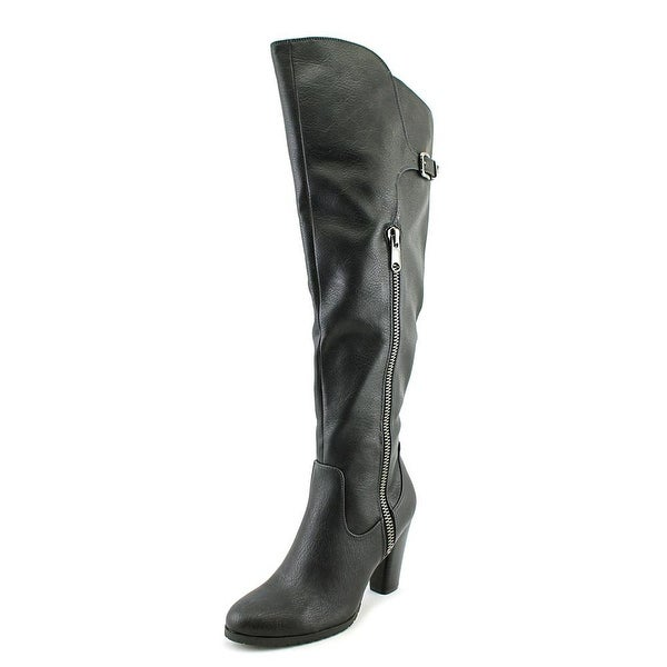 Rialto Violet Round Toe Leather Knee High Boot
