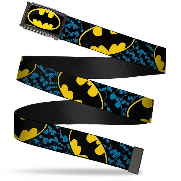 Batman Fcg Black Yellow Black Frame Bat Signals Stacked W Close Up Web Belt