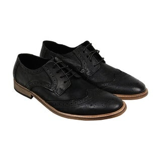 Kenneth Cole Re Prove Mens Black Leather Casual Dress Lace Up Oxfords Shoes