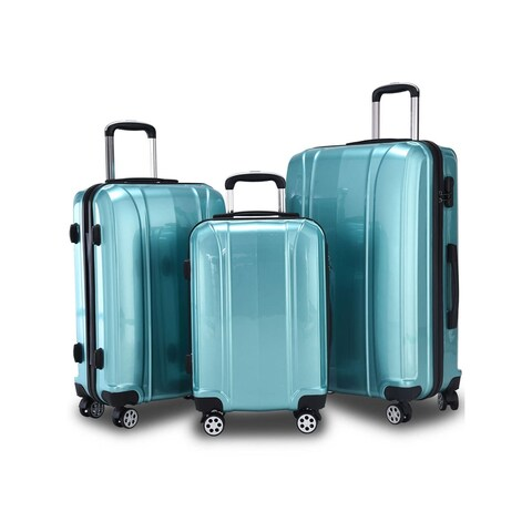 GLOBALWAY 3 Pcs 20'' 24'' 28'' Luggage Travel Set ABS+PC Trolley Suitcase Spinner