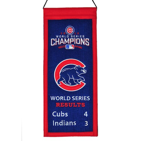 Chicago Cubs 2016 World Series Champs 15 x 6 Mini Banner