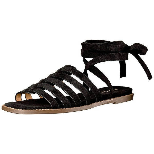 Report Womens Zella Flat Sandal Black Size 85