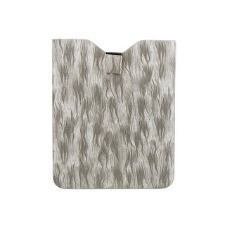 Faux Leather Grey Fire Shape Case Protector for iPad 1