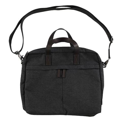 Fossil Mens Buckner Workbag Briefcase, Grey, Small (17 in. - 22 in.) - Small (17 in. - 22 in.)