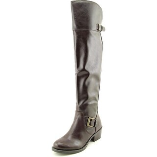 Style & Co Kimby Women Round Toe Synthetic Brown Over the Knee Boot