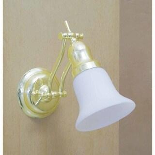 Volume Lighting V1610 1 Light Bathroom Sconce with White Glass Shade
