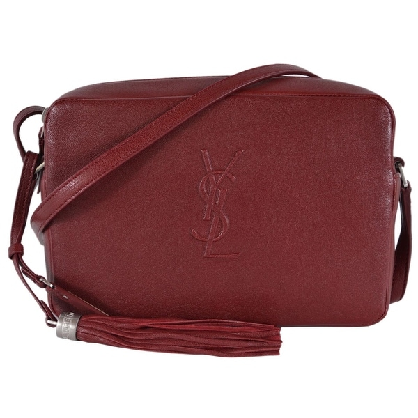 Saint Laurent YSL 470299 LOU Red Leather Camera Bag Crossbody Purse Handbag 4f550f22afbd8