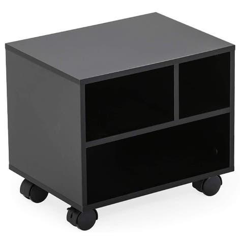 Mobile Desk Printer Machine Stand Work Cart File Cabinet with Wheels