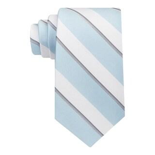 Calvin Klein Mens Cabana Neck Tie Silk Striped - o/s