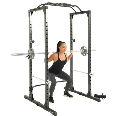 Fitness Reality XLT Power Cage with 800lbs Weight Capacity, Pull up Bar and Landmine - N/A