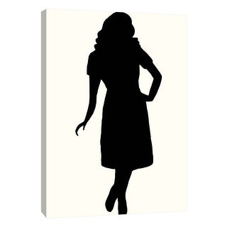 """PTM Images 9-108916  PTM Canvas Collection 10"""" x 8"""" - """"Fashion Icon Series 1950's #2"""" Giclee Silhouettes Art Print on Canvas"""
