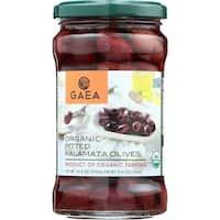 Gaea Olives - Organic - Kalamata - Pitted - Original - 5.6 oz - case of 8