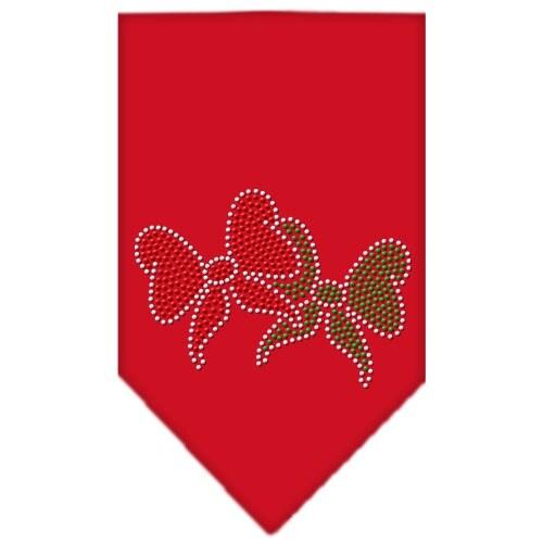 christmas bows rhinestone bandana red large - Large Christmas Bows