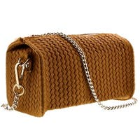 HS1152 CU PIA Tan Leather Wristlet/Crossbody Bag - 7-4-4