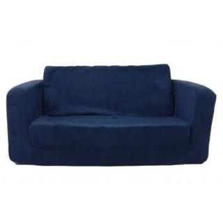Toddler Flip Sofa Dark Blue Micro