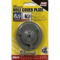 """Prime-Line Products U 9515 Hole Cover Plate, 2-5/8"""", Gray Steel"""