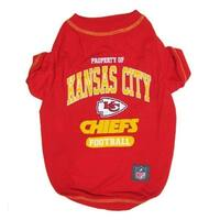 Kansas City Chiefs Pet T-Shirt - Medium