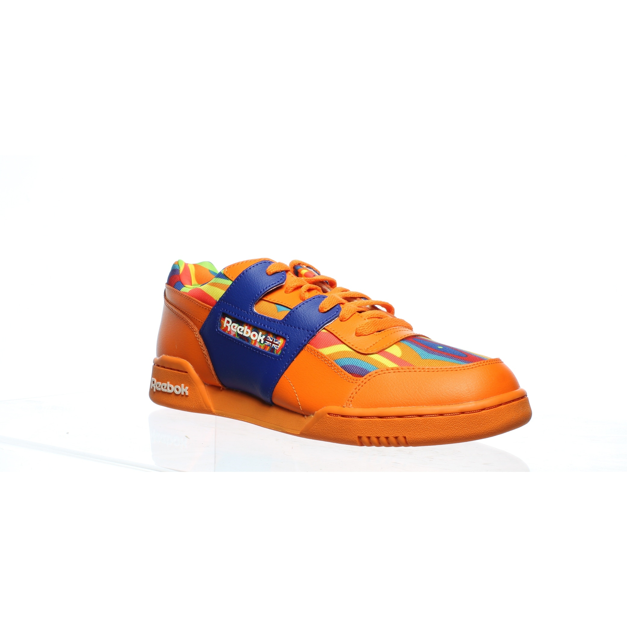 Reebok Mens Workout Plus Ws Orange Cross Training Shoes Size 10