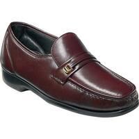 Florsheim Men's Milano Moc Toe Bit Loafer Burgundy Leather