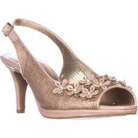 KS35 Bronaa Sling-Back Pumps, Nude