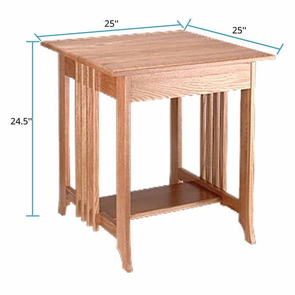 End Tables Living Room Unfinished Oak Mission Table