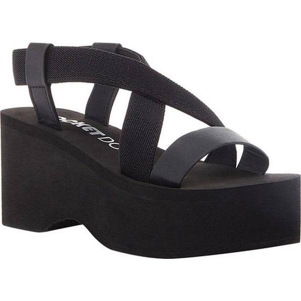 rocket dog black platform sandals