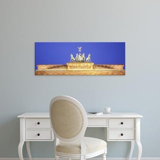 Easy Art Prints Panoramic Images's 'High section view of a gate, Brandenburg Gate, Berlin, Germany' Premium Canvas Art