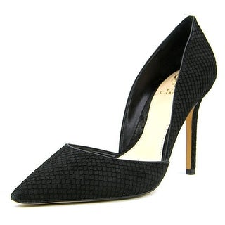 Vince Camuto Rowin Women Pointed Toe Suede Black Heels