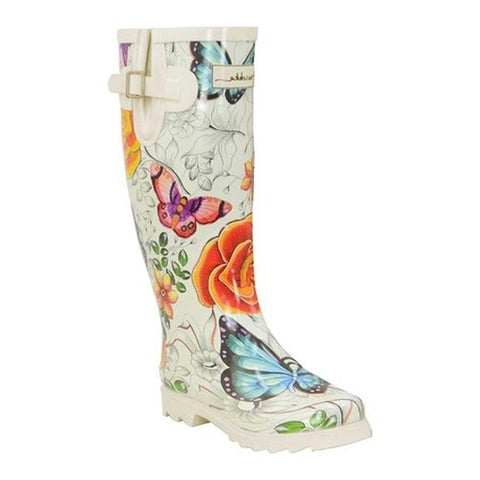 Anuschka Women's Tall Rain Boot Floral Paradise Printed Rubber