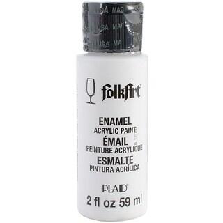 FolkArt Enamel Paint 2oz-Wicker White