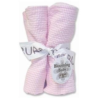 Trend-Lab 102131 Bouquet 4Pk Burp Cloth- Pink Seersucker