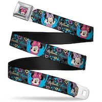 Minnie Mouse Winking Close Up Full Color Multi Color Minnie Mouse Hoody & Seatbelt Belt