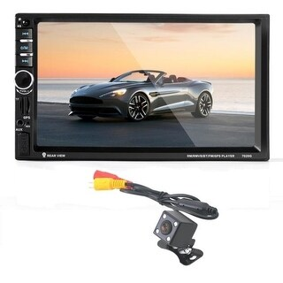 7 HD Bluetooth Screen Car GPS Stereo Radio 2 DIN MP5/MP3/USB/AUX+ Camera