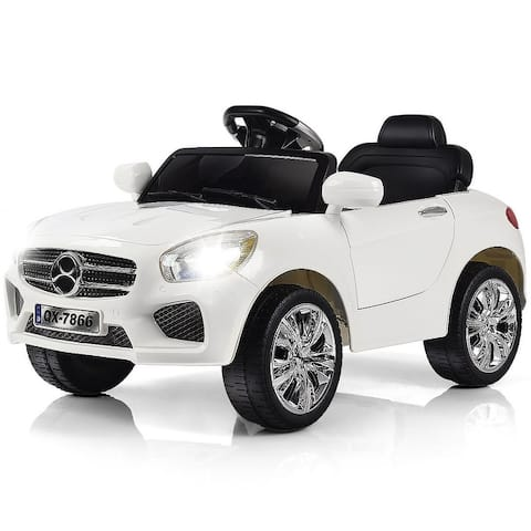 """Costway 6V Kids Ride On Car RC Remote Control Battery Powered w/ LED - 24""""(L) X38""""(W) X21""""(H)"""