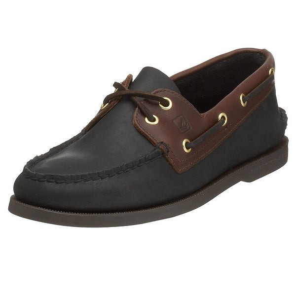 Sperry Mens Top Sider Mens's A/O Leather Closed Toe Boat Shoes
